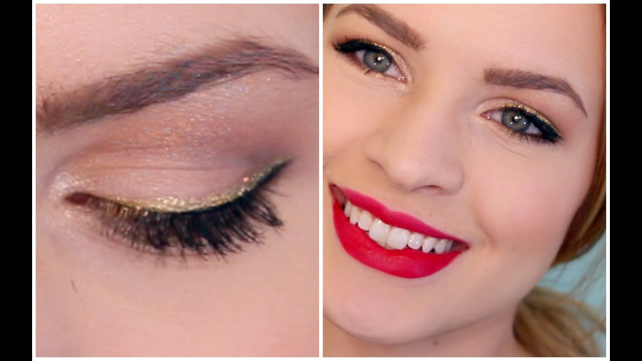 Classic Makeup With a Glittery