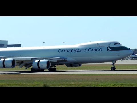 Cathay Pacific Cargo Boeing 747-8F [B-LJE] landing in YVR