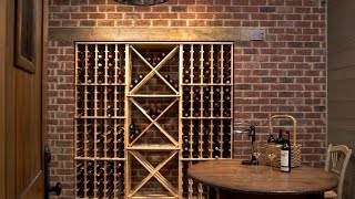 Mueble para vinos de palets viyoutube - Botelleros de obra ...