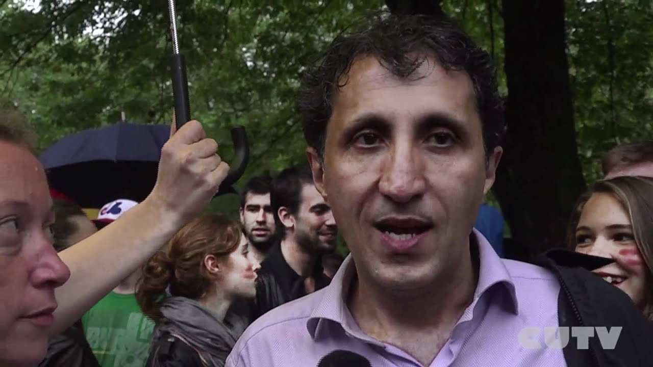 Amir Khadir statements on May 22nd 2012