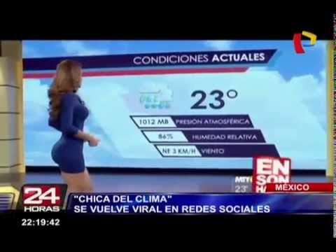 Sexy chica del clima se vuelve viral en las redes sociales