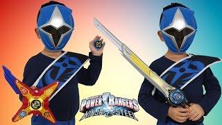 New Power Rangers Ninja Steel Blue Ranger  Power Star Morph And Ninja Star Blade Morph Ckn Toys HD