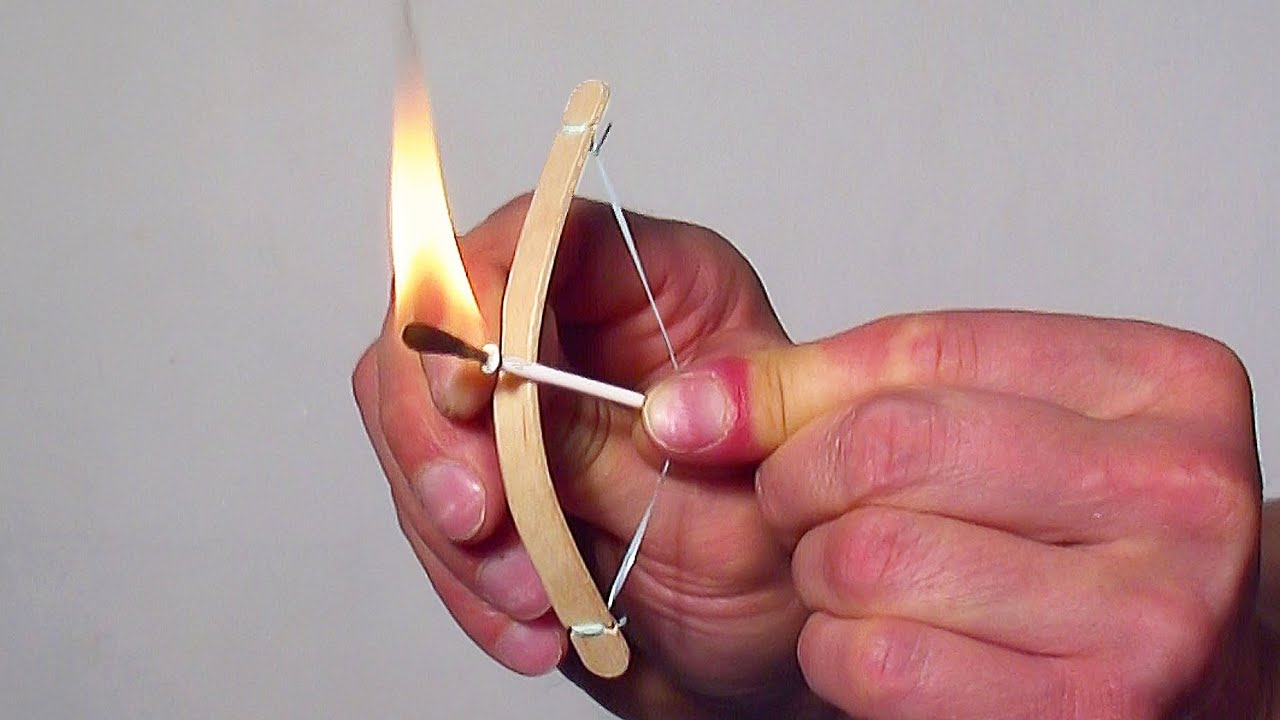 How to make a mini bow and arrow youtube for Fun things to build with household items