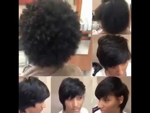 Silk Press On Short Natural Hair