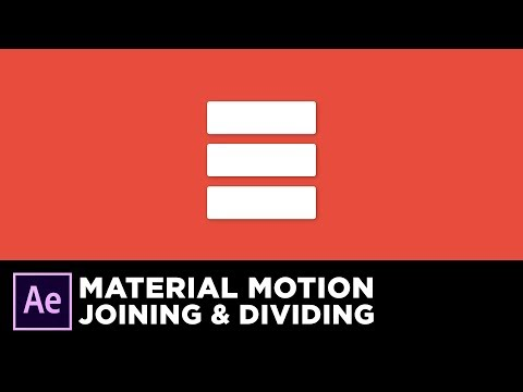 Material Design Motion - Joining and Dividing Animation in After Effects Tutorial
