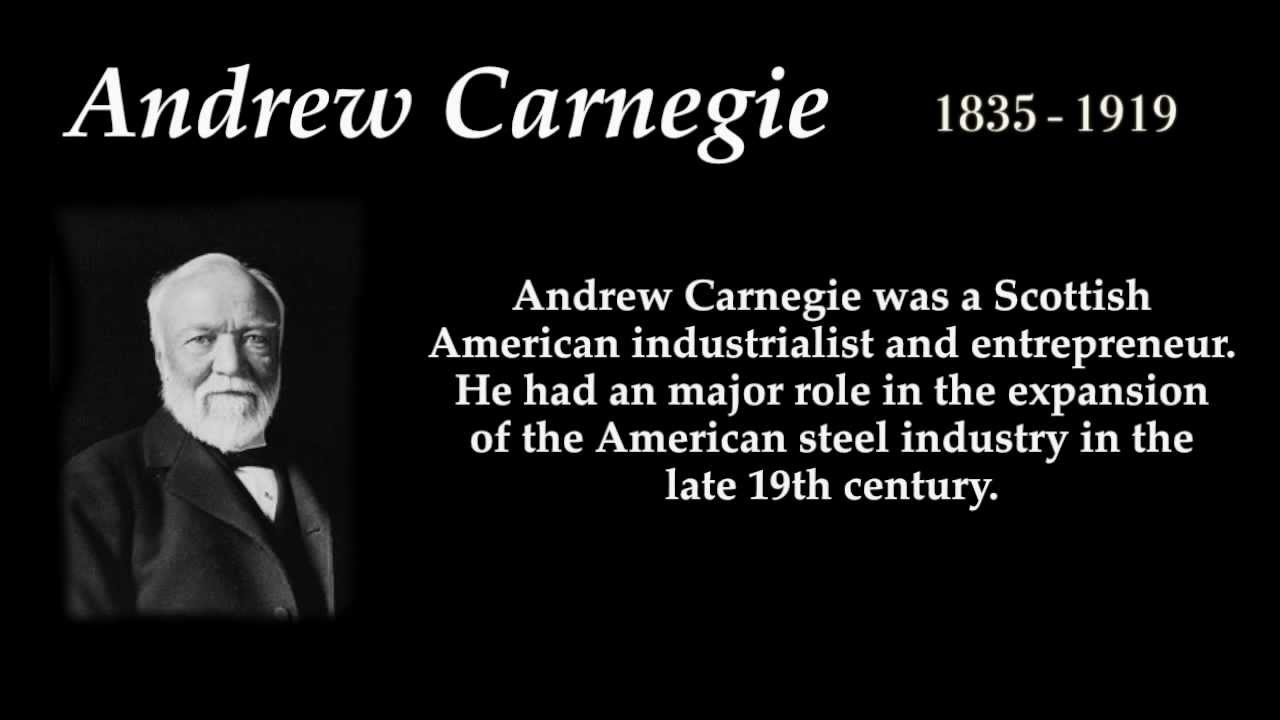a biography and life work of andrew carnegie an american industrialist and economist In the same year he joined forces with andrew carnegie in the spring of 1871 george pullman, andrew carnegie a biography of george mortimer pullman (1992.