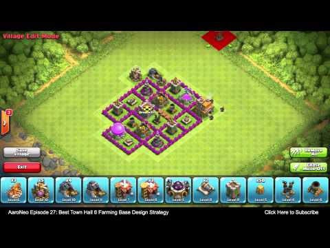 BEST Town Hall Level 6 (TH6) Farming Base Design Layout Strategy Clash of Clans