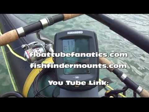 Best fish finder and transducer mounting system float for Float tube fish finder