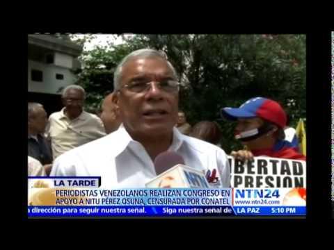 Periodistas venezolanos realizaron congreso ciudadano en Caracas en solidaridad con Nitu Pérez Osuna