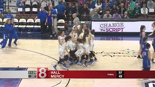 Mercy defeats Hall in Double LL girls basketball, wins 3rd state title