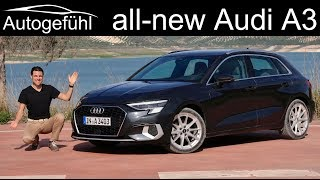 all-new Audi A3 Sportback FULL REVIEW 1.5 TFSI MHEV design selection vs s-line comparison 2020