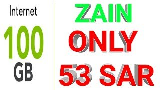 ZAIN NEW OFFER!    100 GB only 53 SAR? For 1 amonth? 2.2 MB
