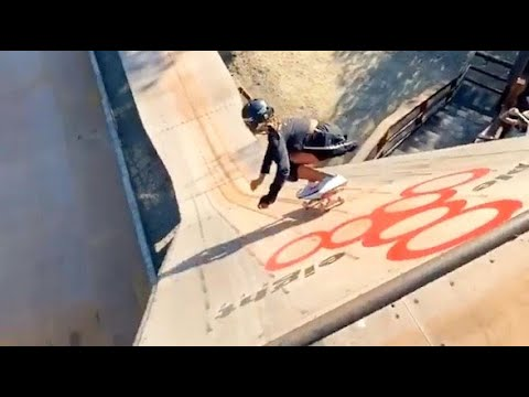 INSTABLAST! - 12 Y/O GIRL AIRS MEGA RAMP!!! Boardslide IMPOSSIBLE Hardflip Late Inward Flip, Tre 50