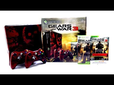 Gears of War 3 Xbox 360 Console (Limited Edition) Unboxing