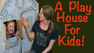 Playhouse Assembly for Kids | The Creatology Cardboard Gingerbread House