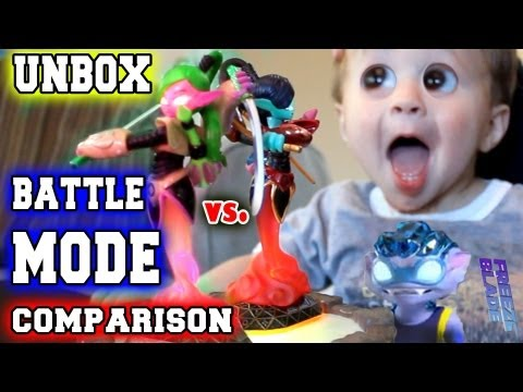 Scarlet Ninjini Battle Mode Comparison & V2 Unboxing (Skylanders Giants)