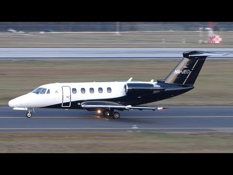 Cessna 650 Citation III HA-JEO take-off at Ferihegy