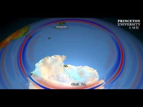 pacific antarctic ridge  Antarctica Quake Waves Give