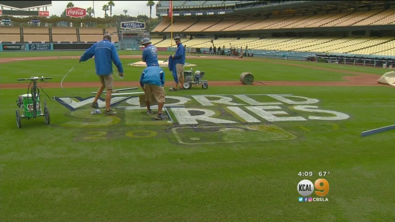 Dodger Stadium Gets A Touch Up For Game 6 Of The World Series