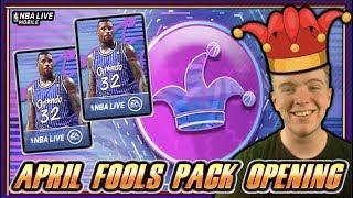 101 OVR SHAQ APRIL FOOLS MASTER! APRIL FOOLS PACK OPENING! | NBA LIVE MOBILE 19 S3