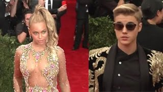 Celebrities Arriving At The 2015 MET Gala- Justin Bieber, Beyonce, Rihanna And More