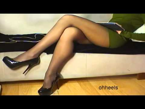 Shoeplay Sexy High Heels to the music rhythm