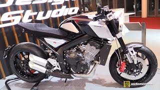 Honda CB4 Concept Bike - Walkaround - 2015 Salon de la Moto Paris Walkaround
