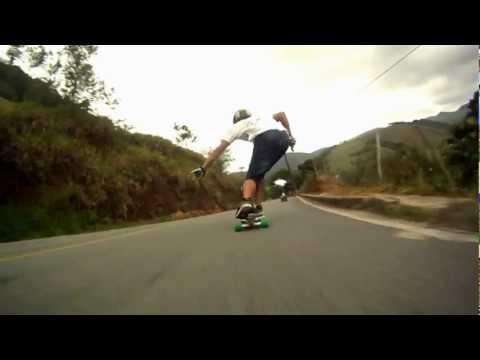 Skate Downhill Speed - Formate Hills - Esparito Santo - Go Longboard ES - Gopro