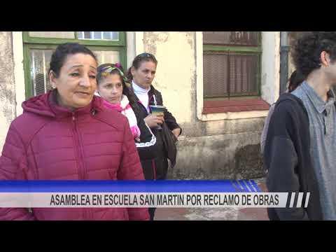 Docentes y alumnos de la Escuela San Martín realizaron una asamblea en reclamo de obras