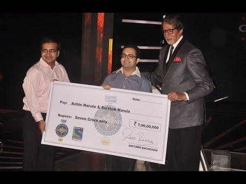 Amitabh Bachchan With The Winner Of Kon Banega Crorepati