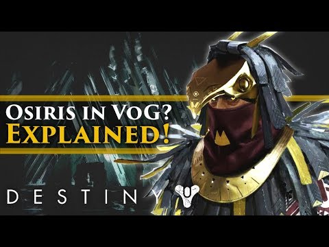 Destiny 2 Lore - Why was Osiris in the Vault of Glass? Curse of Osiris Lore Explained!