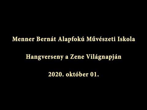 Menner Bernát Alapfokú Művészeti Iskola - Hangverseny a Zene Világnapján 2020 október 01.