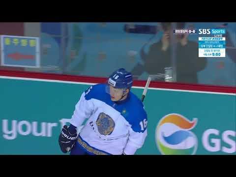 Шайба.kz / Ярослав Евдокимов забивает гол в ворота олимпийской сборной Кореи