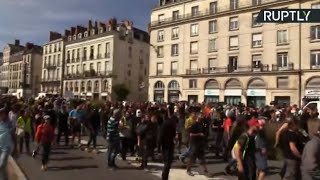 Yellow Vests take to streets of Nantes for new protest