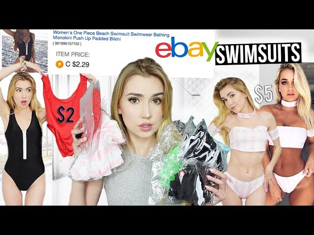 TRYING ON 2-7 BIKINIS FROM EBAY!?  HOW!! Are they any good??