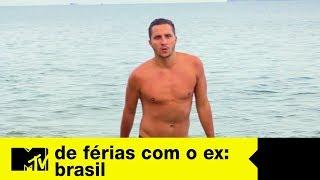 Matheus, ex de Sarah, já chega beijando na boca   De Férias Com O Ex Brasil Ep. 08