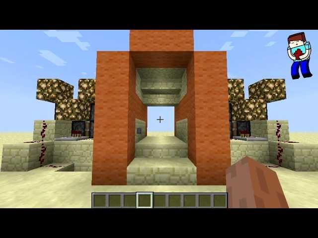 [Minecraft] Урок 72: Прозрачная дверь 2x2! Невидимые поршни!