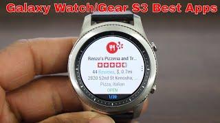 Top Galaxy Watch/Gear S3 Apps 2018 Best Of The Best
