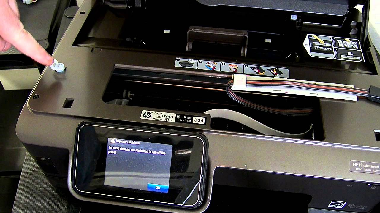 Hp Photosmart 6510 Ciss Continuous Ink System Youtube