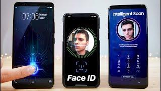 In-Glass Fingerprint vs Face ID vs S9 Intelligent Scan SPEED Test!