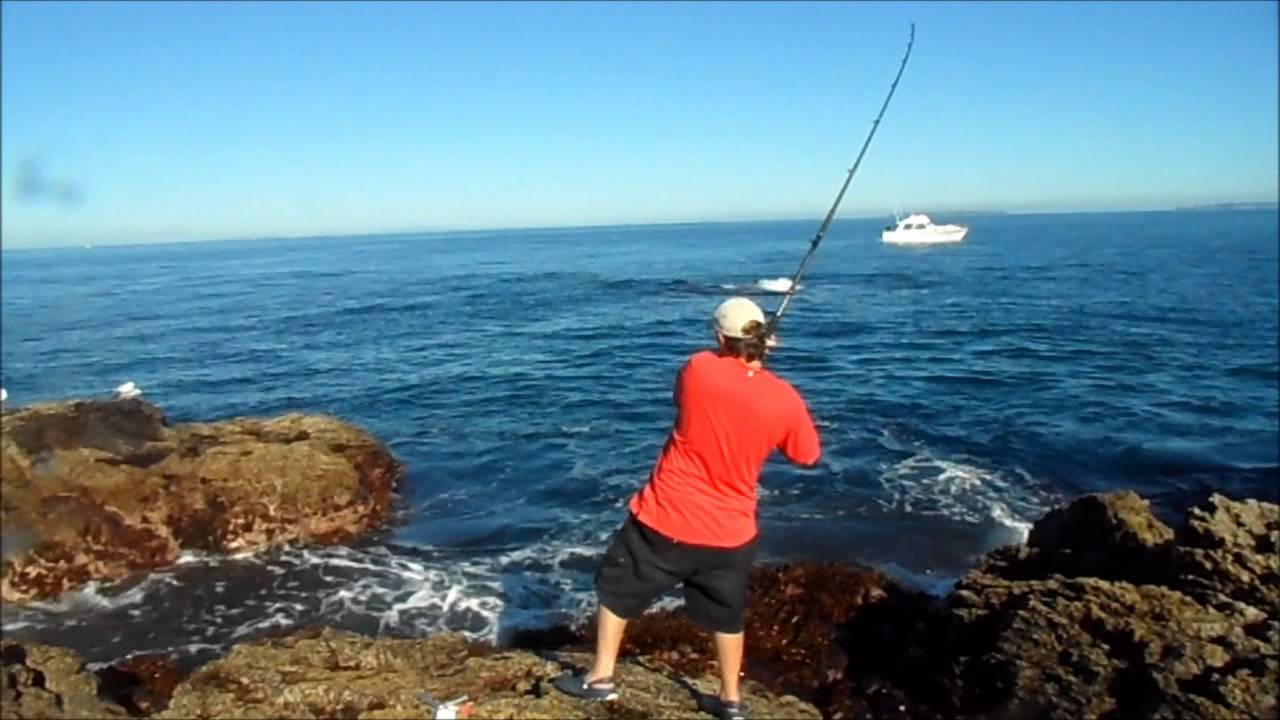 Flat rock land base fishing nz youtube for Fishing license for disabled person