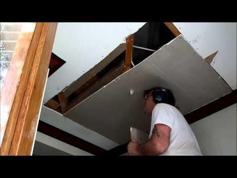 Water Damaged Plaster Ceiling Repair Bentleigh