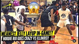 HOODIE RIO MEANEST JELLY LAYUP!! GOES CRAZY IN MISSOURI VS ILLINOIS ALLSTAR GAME!!