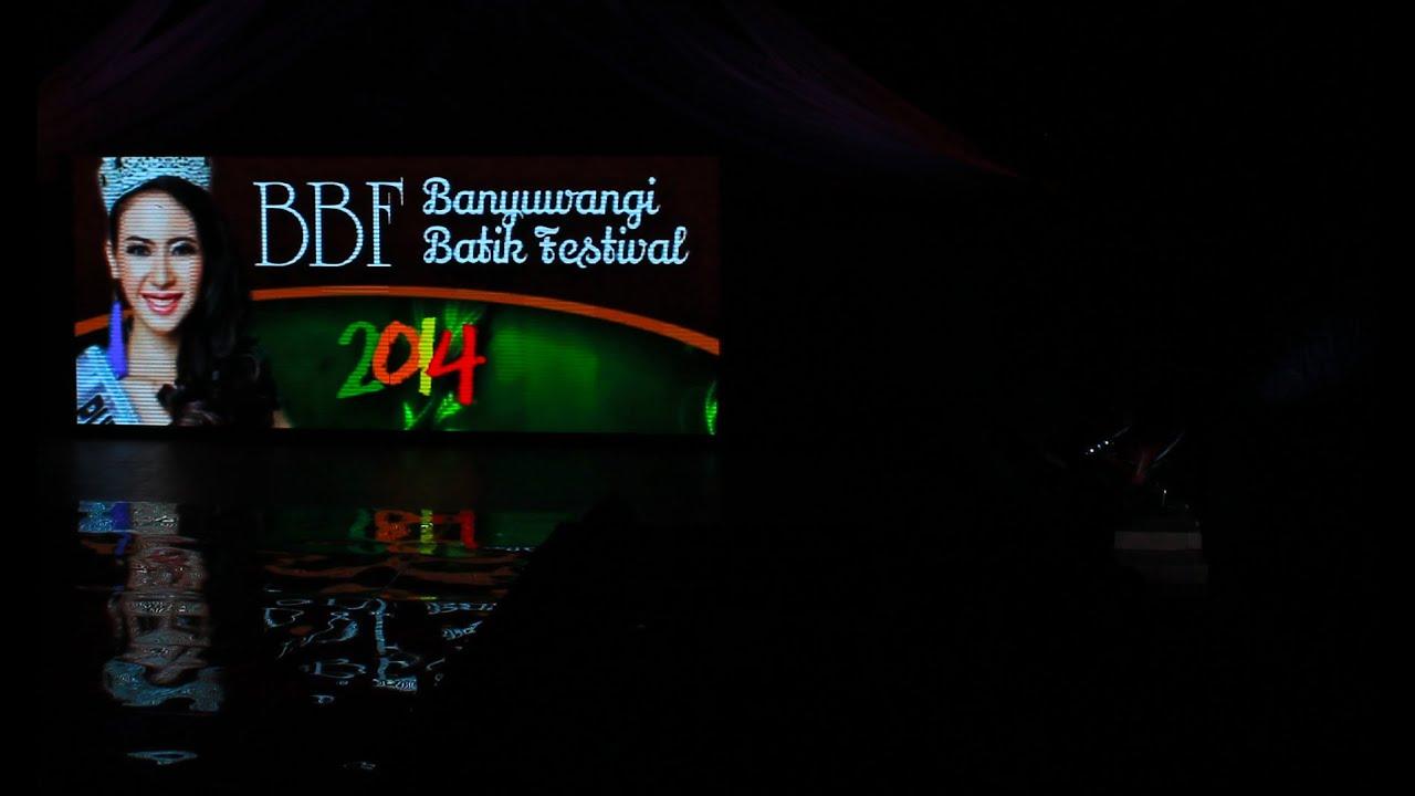 Fashion Show on Pedestarian - Batik Banyuwangi Festival 2014 - YouTube