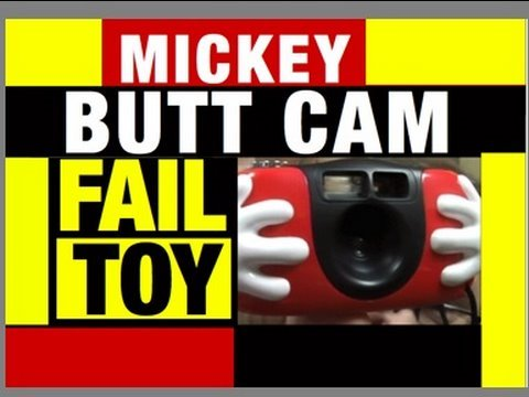 FAIL TOY Mickey Butt Camera Funny Video, Review Mike Mozart of JeepersMedia Channel on YouTube