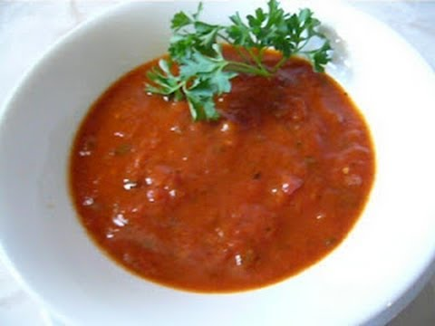 Salsa marinara receta italiana para pastas youtube for Hacer salsa marinera