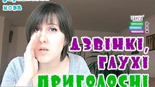 Дзвінкі та глухі приголосні  Українська мова  Відеорепетитор  ЗНО