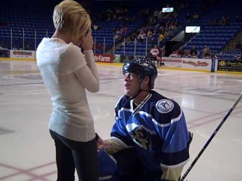 Surprise Face Off Engagement at Bloomington PrairieThunder Home Game