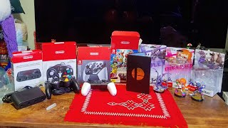 Unboxing: Super Smash Bros Ultimate Pro Controller Bundle + Amiibo + GameCube Controller and Adapter