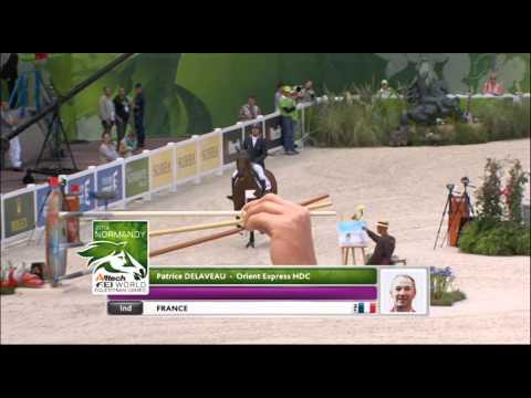 JEM 2014 : Le passage de Patrice Delaveau avec son cheval lors de la finale à 4